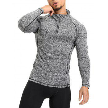 Raglan Sleeve Half Zip T-shirt