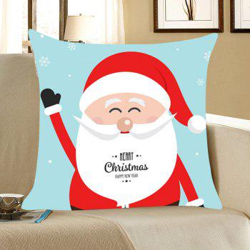 Smiling Santa Claus Pattern Throw Pillow Case - COLORFUL COLORFUL