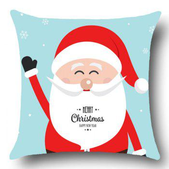 Smiling Santa Claus Pattern Throw Pillow Case - W18 INCH * L18 INCH W18 INCH * L18 INCH