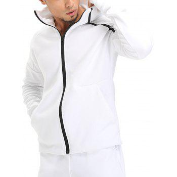 Drop Shoulder Linellae Zip Up Hoodie - M M