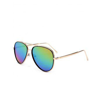 UV Protection Metal Frame Crossbar Sunglasses - COLORFUL COLORFUL