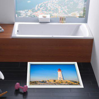 3D Lighthouse Print Stick-on Multifunction Wall Art Painting - Azur