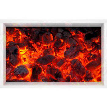 3D Hot Coals Print Multifonction Stick-on Wall Art Painting - Rouge Cadre