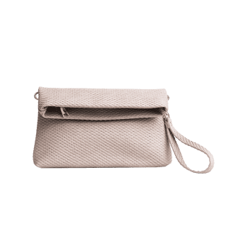 Multi Function Fold Over Clutch Bag -  LIGHT GREY