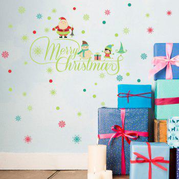 Merry Christmas Pattern Glow In The Dark Wall Stickers - COLORMIX 30*60CM