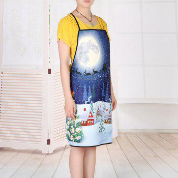 Christmas Night Village Print Waterproof Apron - COLORMIX COLORMIX