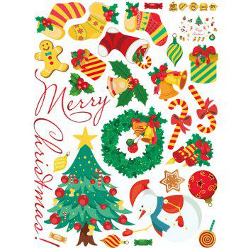 Christmas Theme Pattern Wall Art Stickers - 45*60CM 45*60CM