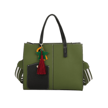 2 Pieces Tassel Letter Handbag Set - GREEN