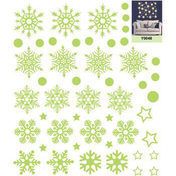 Christmas Snowflake Pattern Glow In The Dark Wall Stickers - 21*24.5CM 21*24.5CM