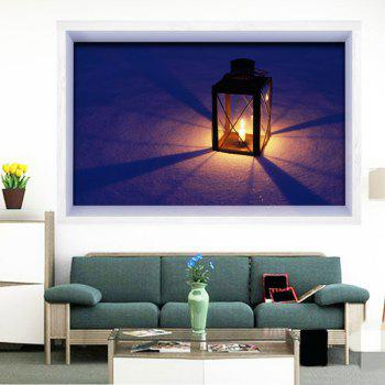 Bougeoir 3D Imprimé Multifonction Stick-on Wall Art Painting - RAL Violet Bleu