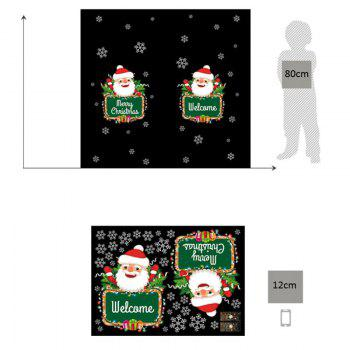 Christmas Santa Snowflake Pattern Wall Art Stickers - COLORMIX 50*70CM