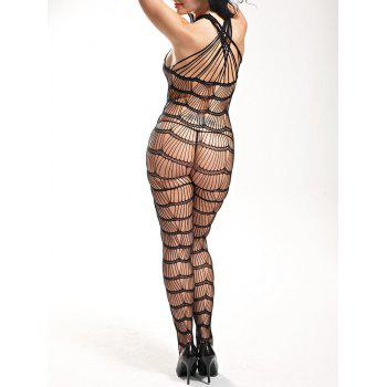 Sleeveless Openwork Bodystockings - ONE SIZE ONE SIZE