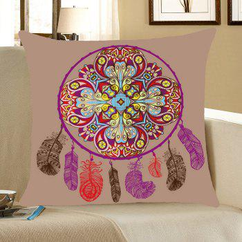 Bohemia Aeolian Bell Pattern Linen Pillow Case - COLORFUL COLORFUL