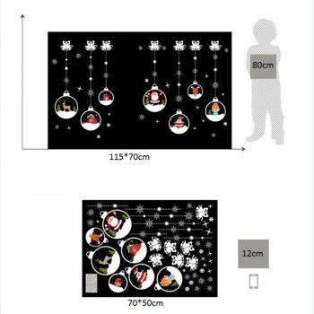 Christmas Baubles Bells Pattern Wall Art Stickers - COLORMIX 50*70CM