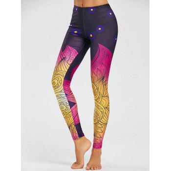 Print Skinny Leggings - COLORMIX L