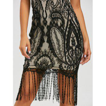 Lace Vintage Maxi Fringe Formal Dress - 2XL 2XL