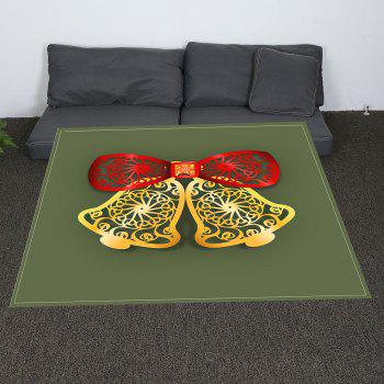 Paper Cutting Christmas Bells Printed Soft Coral Fleece Blanket - COLORMIX W31 INCH*L59 INCH