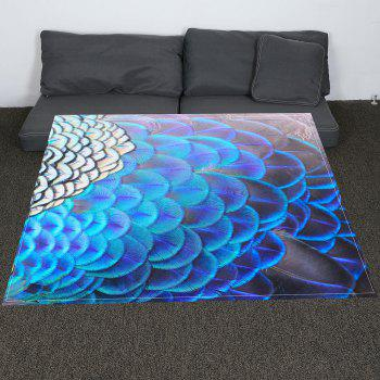 Feathers Printed Coral Fleece Soft Blanket - COLORFUL W47INCH*L59INCH