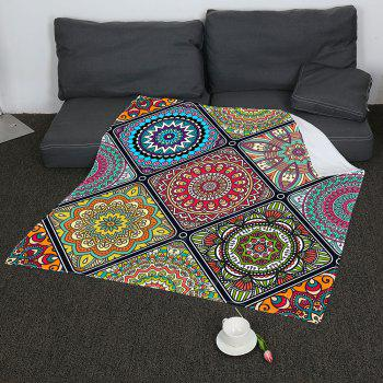 Coral Fleece Bohemia Geometry Pattern Blanket - COLORFUL W31 INCH*L59 INCH