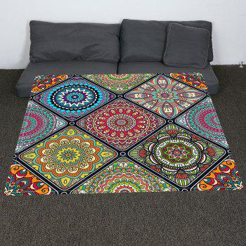 Coral Fleece Bohemia Geometry Pattern Blanket - COLORFUL COLORFUL