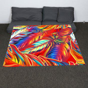 Colorful Feathers Printed Coral Fleece Blanket - W47INCH*L59INCH W47INCH*L59INCH