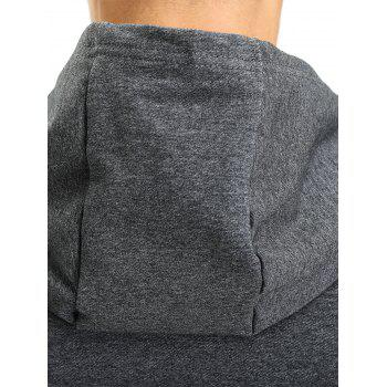 Hooded Pouch Pocket Zipper Vest - DEEP GRAY DEEP GRAY