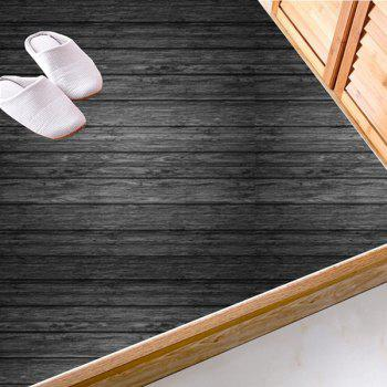 Antiskid Floor Decals Wood Grain Wall Stickers Set - CHARCOAL GRAY CHARCOAL GRAY