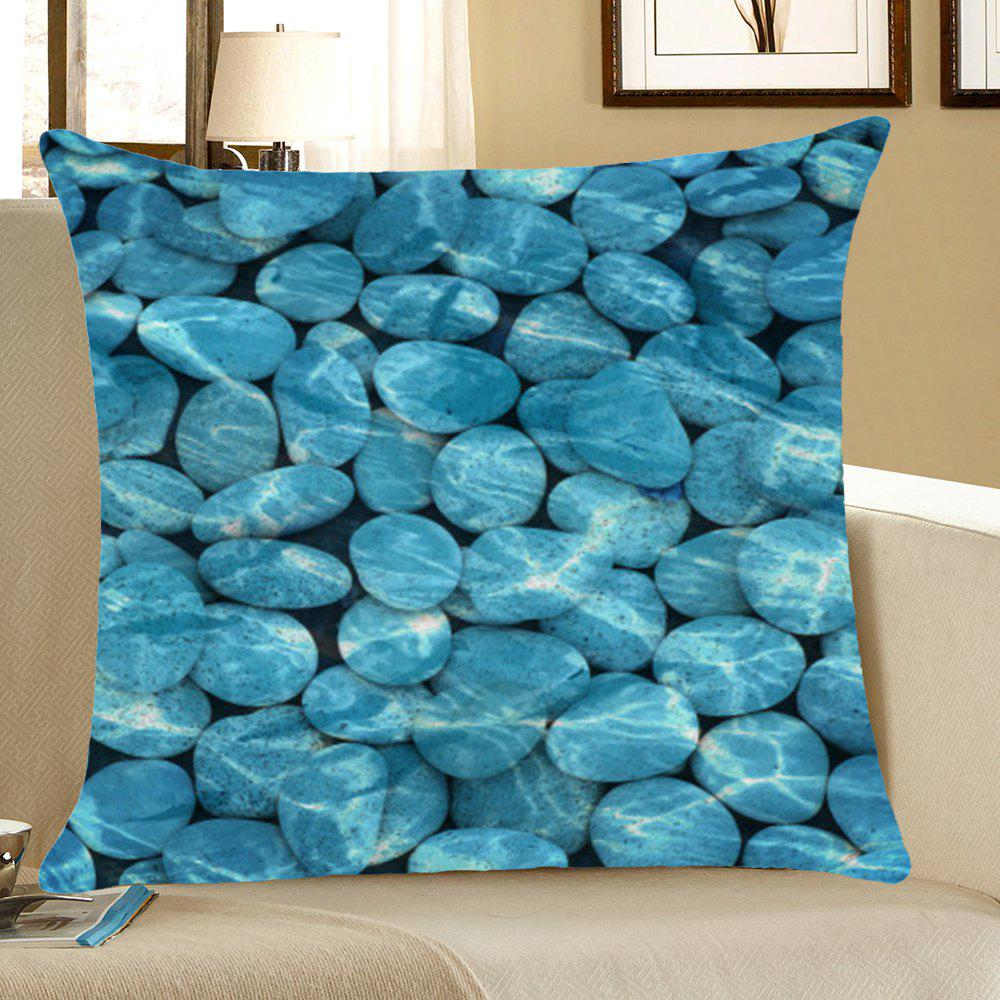 Cobblestones Printed Home Decor Throw Pillow Case - BLUE W18 INCH * L18 INCH