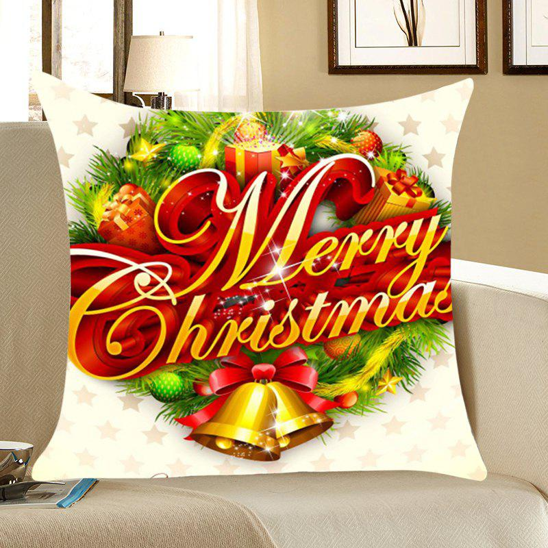 Christmas Small Bells Gifts Print Throw Pillow Case - COLORFUL W18 INCH * L18 INCH
