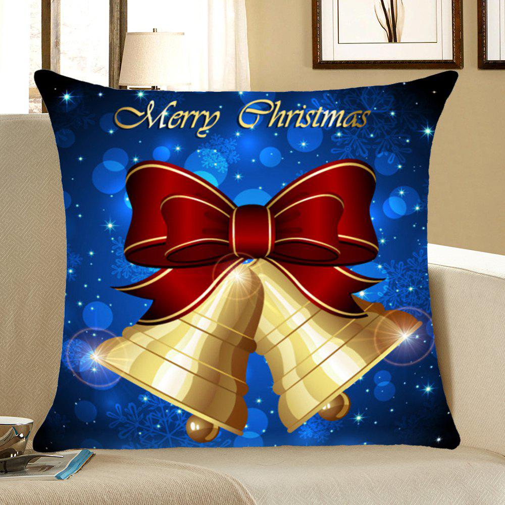 Christmas Bells Printed Throw Pillow Case Home Decor - BLUE W18 INCH * L18 INCH