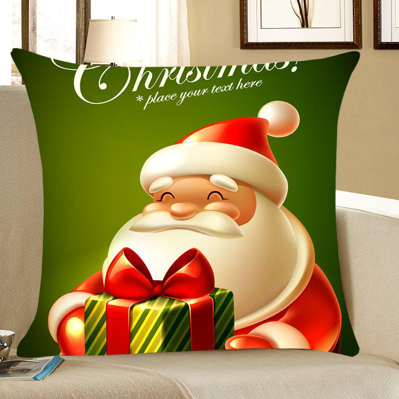 Santa Claus Patterned Home Decor Throw Pillow Case santa claus deer cushion throw pillow case