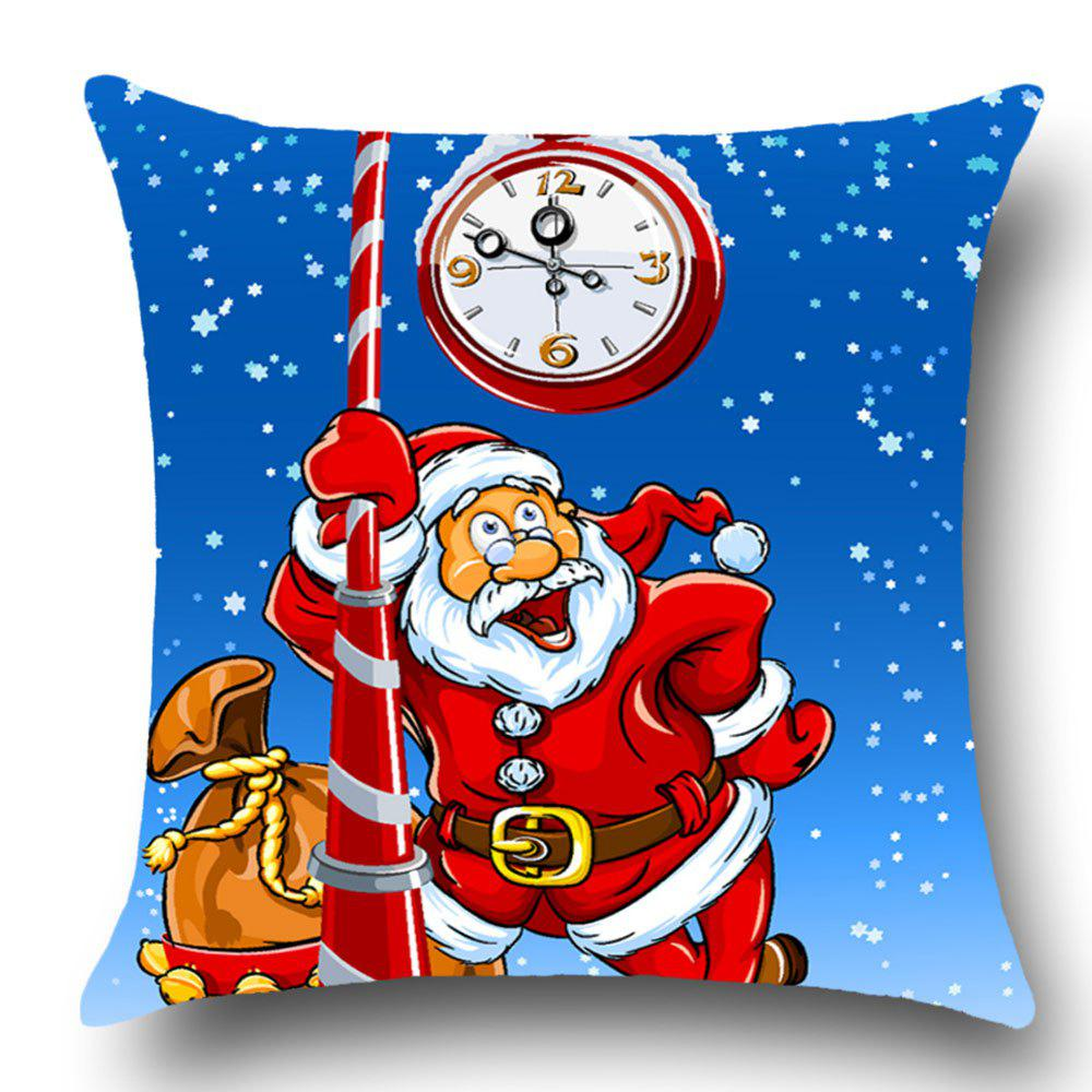 Santa Claus Pattern Home Decor Throw Pillow Case - BLUE/RED W18 INCH * L18 INCH
