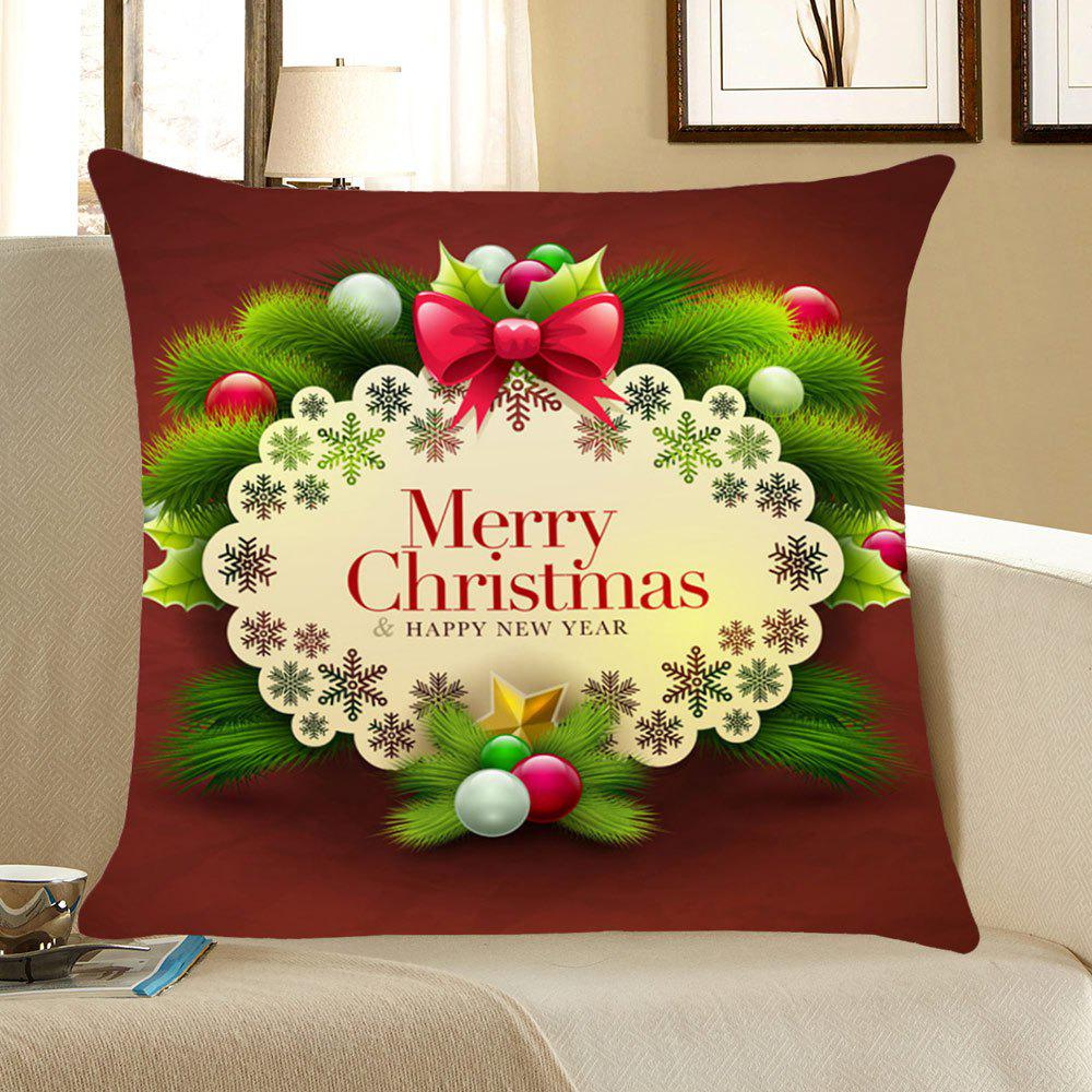 Christmas Small Balls Pattern Throw Pillow Case - DARK RED W18 INCH * L18 INCH