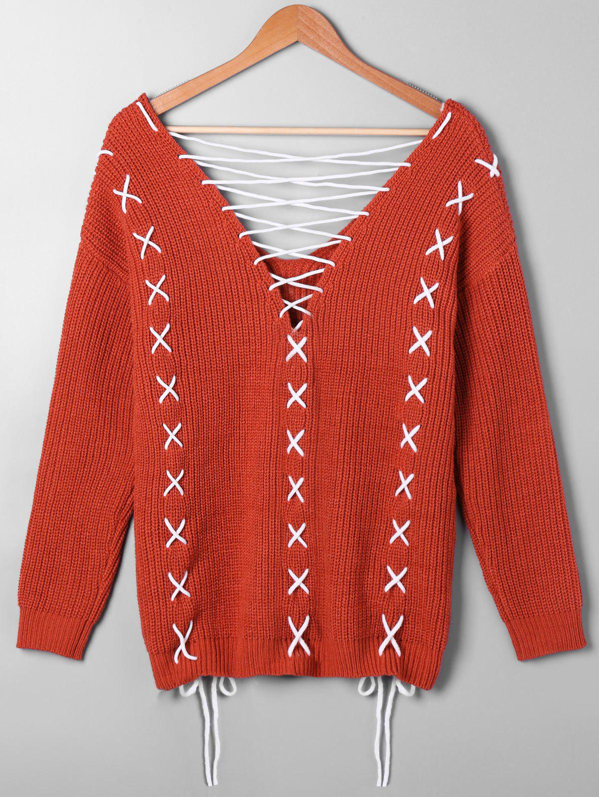 Pull taille à lacets - RAL Rouge Orange 4XL
