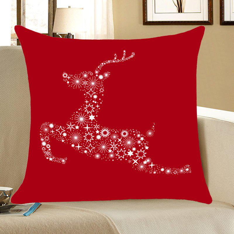 Christmas Stars Elk Printed Linen Pillow Case linen christmas snowman printed home decor pillow case