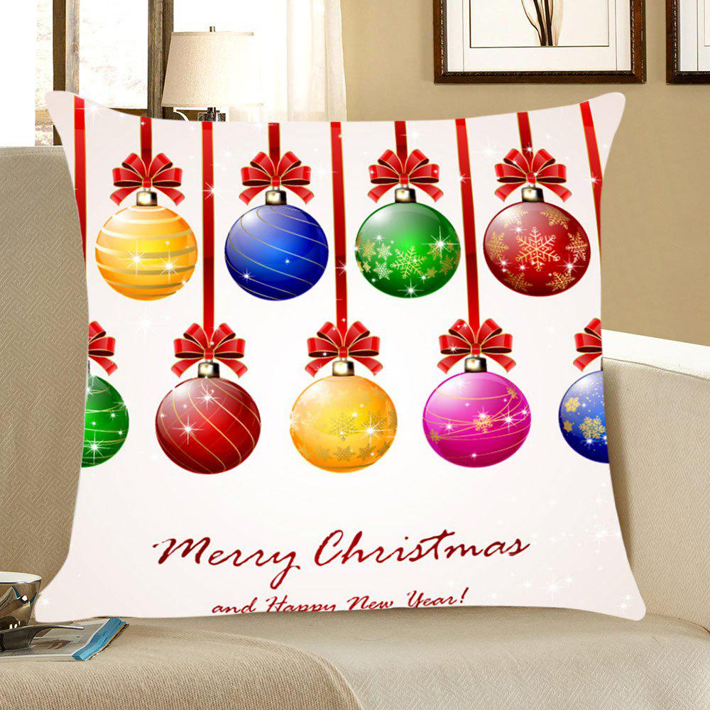 Christmas Colorful Balls Pattern Decorative Pillow Case - COLORFUL W18 INCH * L18 INCH
