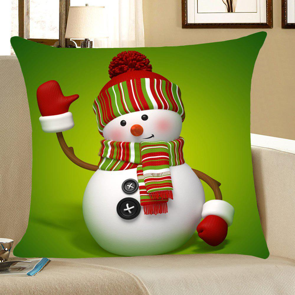 Christmas Snowman Throw Pillow Case Home Decor linen christmas snowman printed home decor pillow case