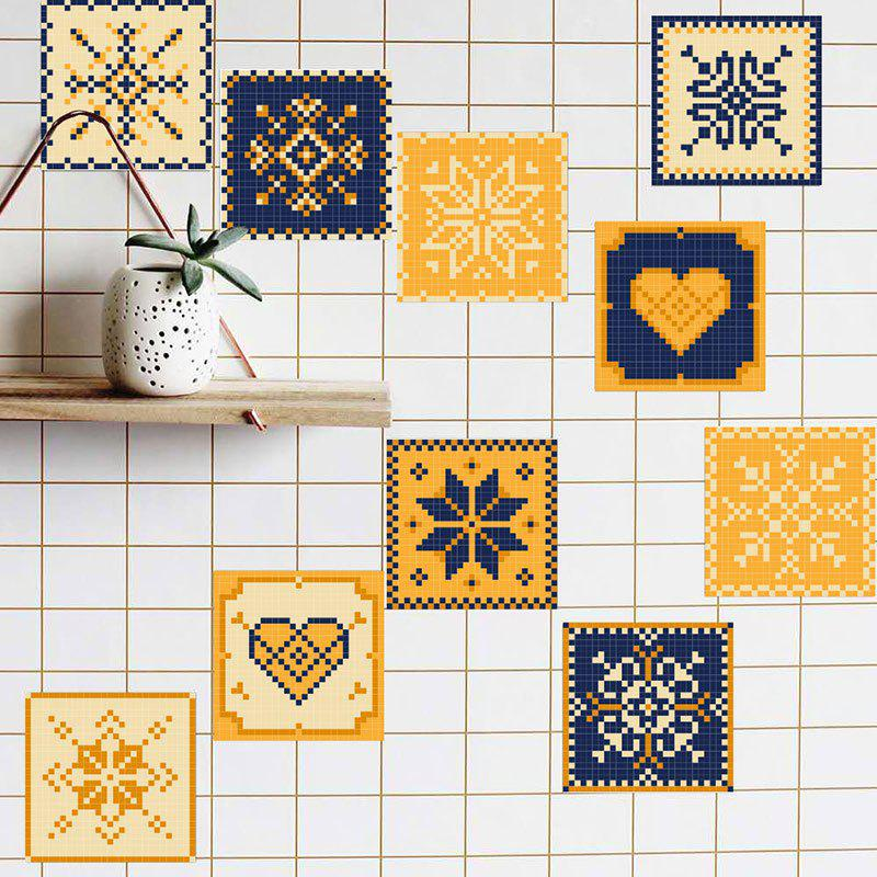 Antislip Floor Decals European Decor Wall Tile Stickers Set - COLORMIX 8*8 INCH