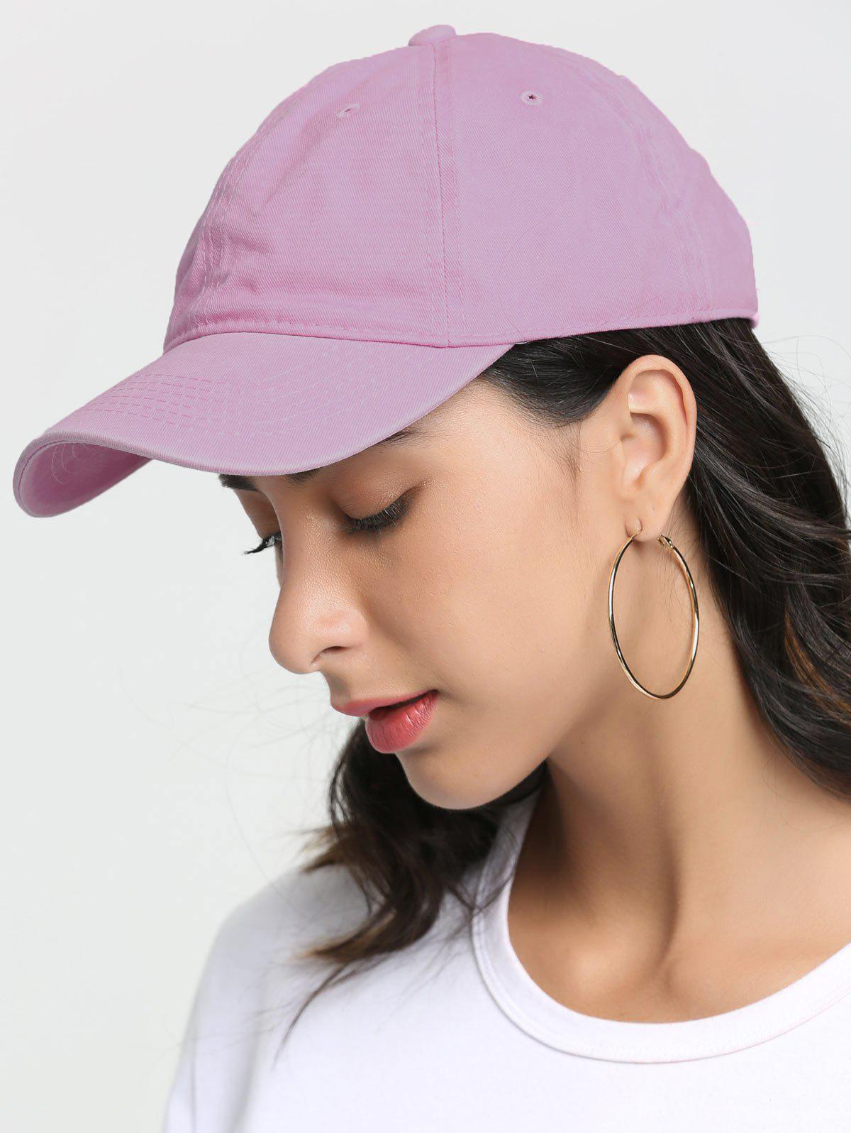 Sunscreen Lines Hat De Baseball Brodé - Rose