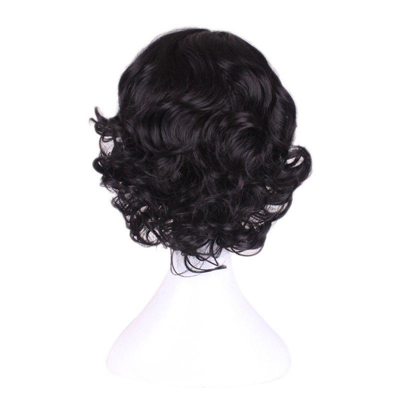 Centre Parting Medium Curly Princess Snow White Cosplay perruque synthétique - Noir