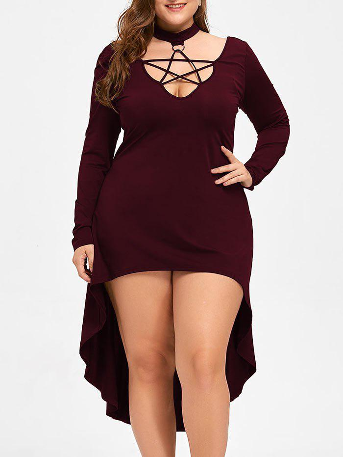 Halloween Plus Size Lace Up Cocktail Dress plastic standing human skeleton life size for horror hunted house halloween decoration