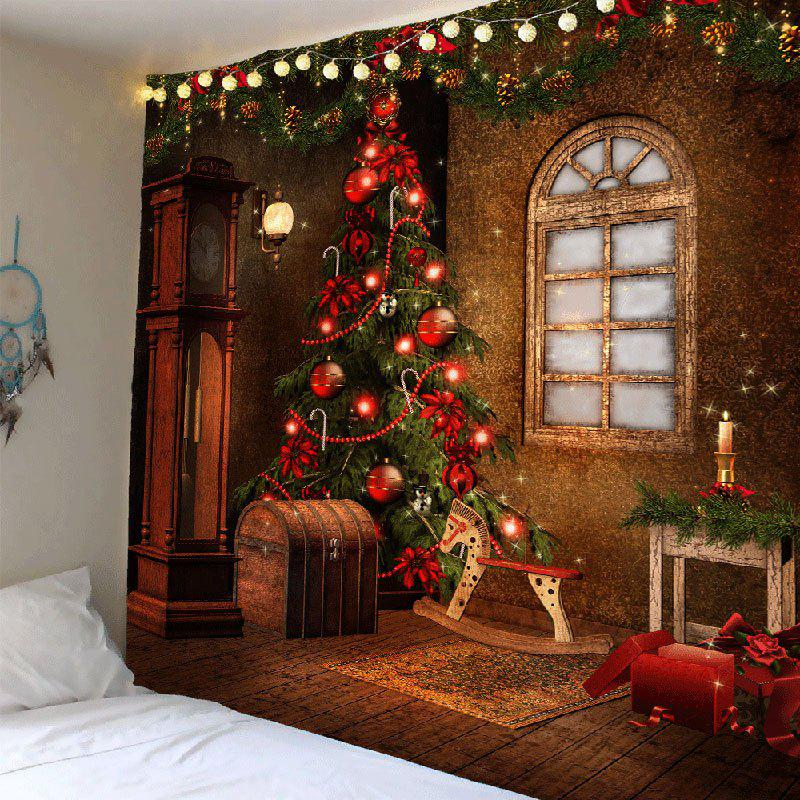 Christmas Tree Decorations Patterned Tapestry Wall Art home decor lone wolf patterned wall art tapestry