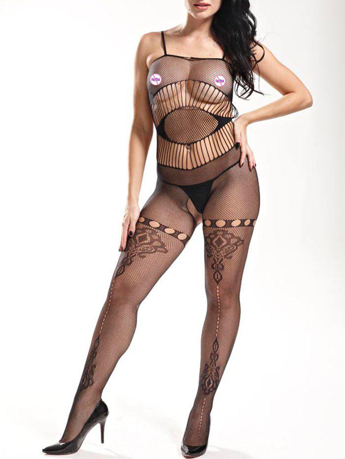 Slip Fishnet Bodystockings - BLACK ONE SIZE