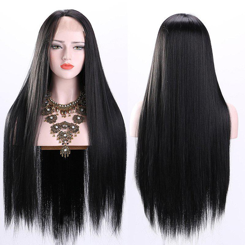 Free Part Ultra Long Straight Lace Front Synthetic Wig long free part fluffy kinky curly synthetic lace front wig