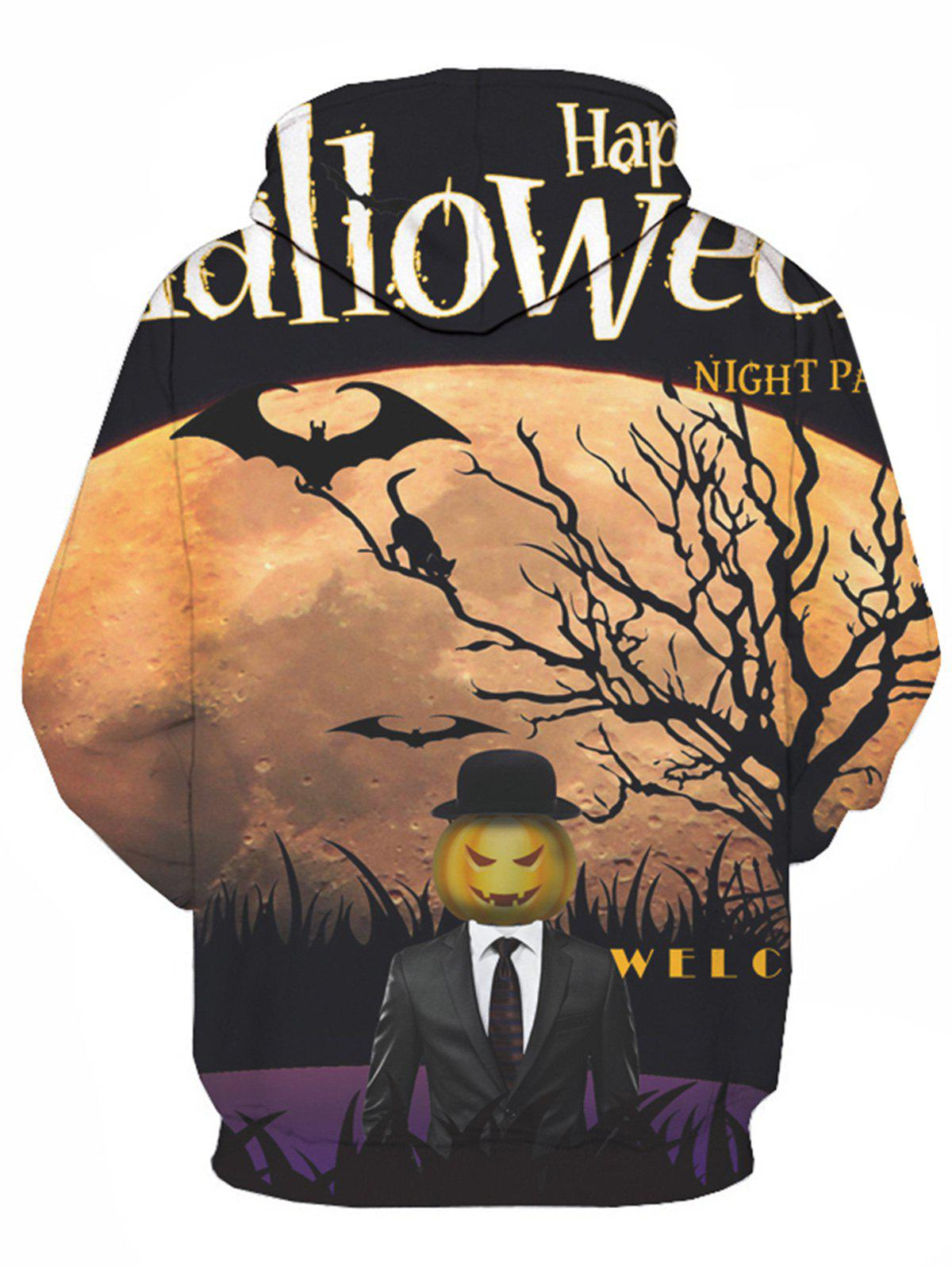 Sweat à capuche à imprimé graphique 3D Halloween - multicolorcolore L