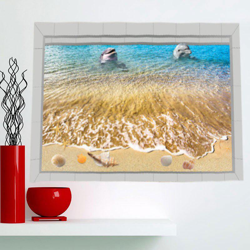 3D Seascape Print Stick-on Multifunction Wall Art Painting - RAL Sable Jaune