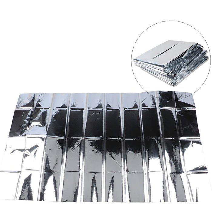 Outdoor Thermal Space Emergency Survival Sunscreen Blanket - SILVER