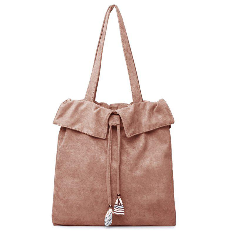 Drawstring Shoulder Bag - PINK