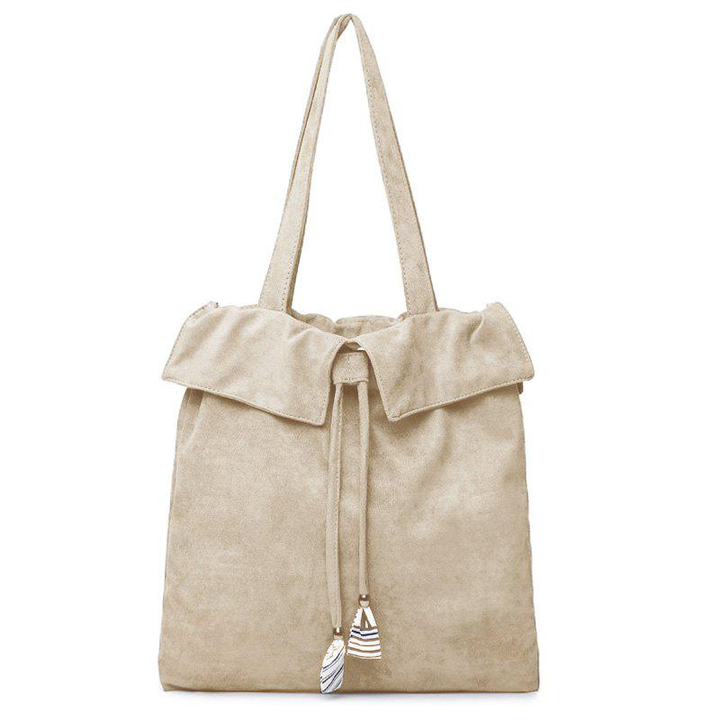 Drawstring Shoulder Bag - OFF WHITE