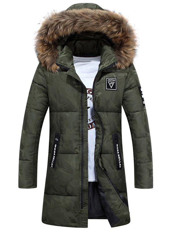 Zipper Up Patch Design Hooded Quilted Coat акриловая ванна royal bath azur rb 614200 левая 140х80 rb614200l